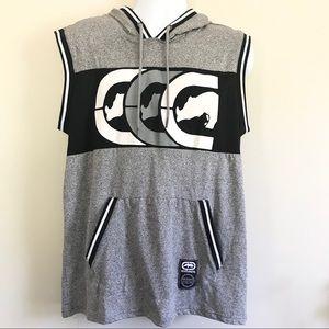 ECKO UNLIMITED Men's Grey Marled Hoodie Vest